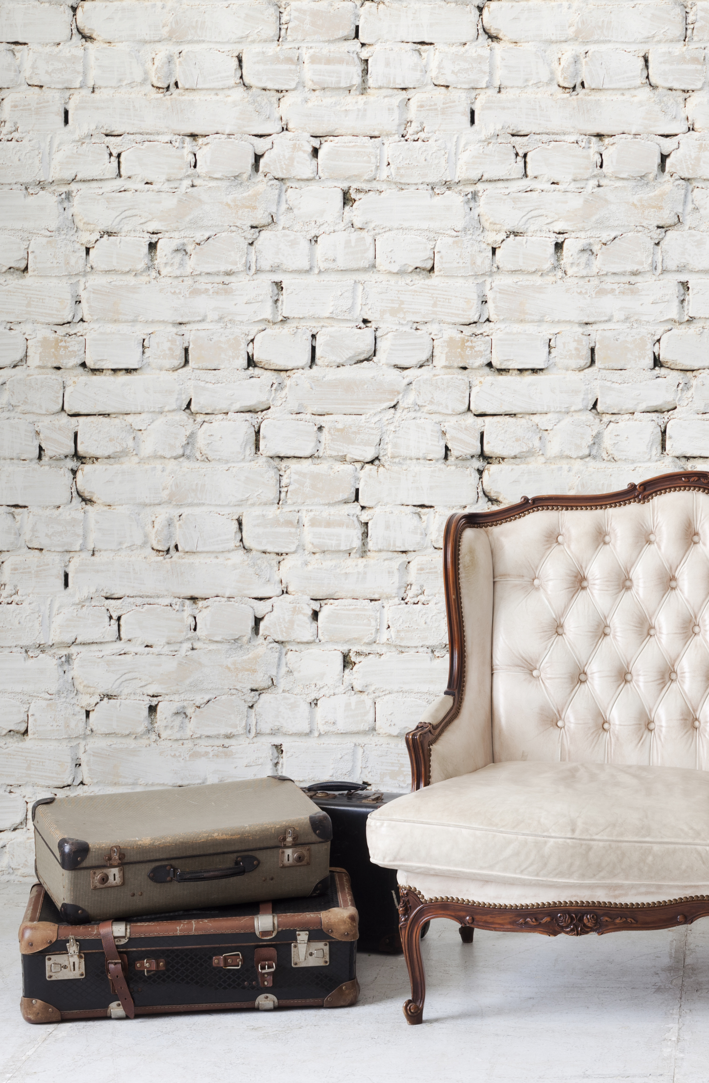 Kemra Wallpapers Whitewash Bricks Wallpaper