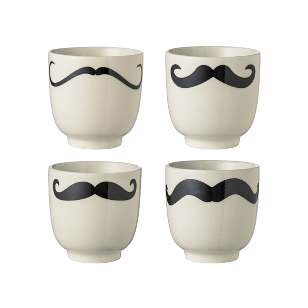 Set 4 tasses moustaches