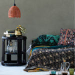 Barrel Side Table, Vintage Kantha Quilt, Island baby and Pendant Light from Bowerhouse Living