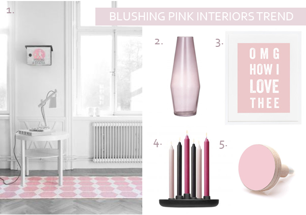 Blushing Pink Interiors Trend | Press Loft Blog
