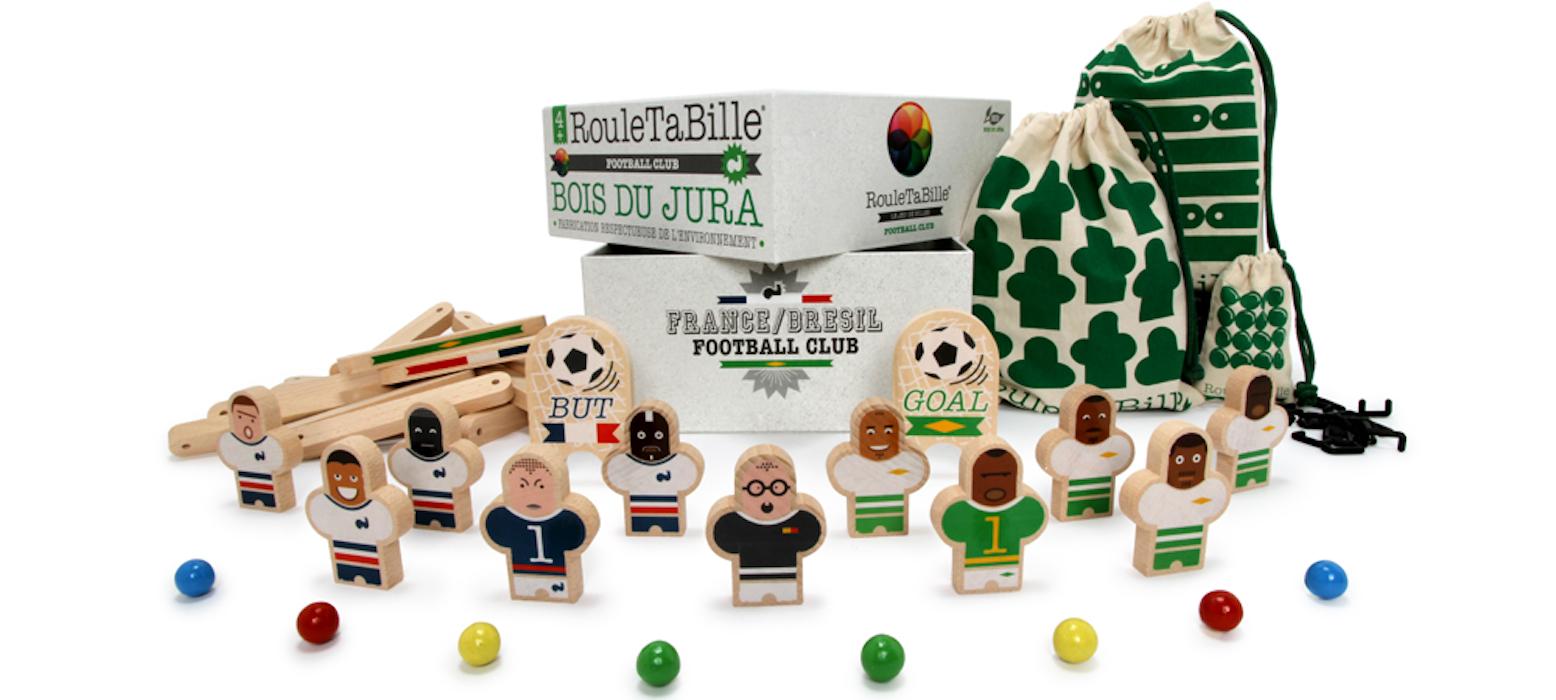 Jeu en bois France Brésil Football Club chez Utile Futile