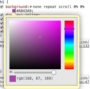 Chrome Colour Picker