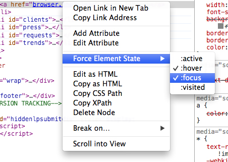 Chrome DOM breakpoints