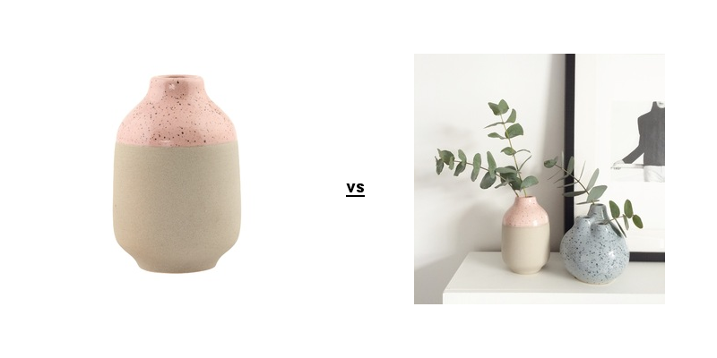Cut out and lifestyle images of the dipped vase from Luke Arthur Wells