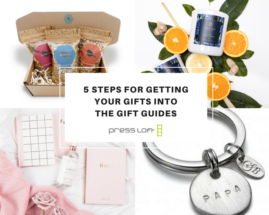 5 steps for getting your gifts into the magazine gift guides